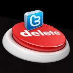 удалиться из Твитера