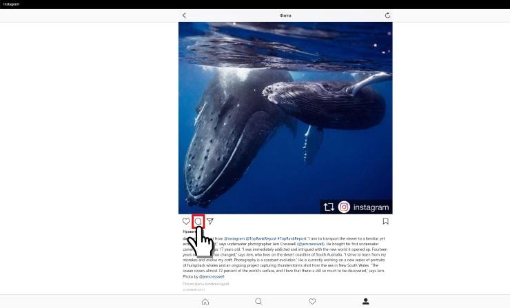 Как удалить комментарий в Инстаграме с компьютера